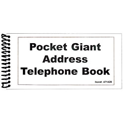 Pocket Large Print Address Book - 10 Pack