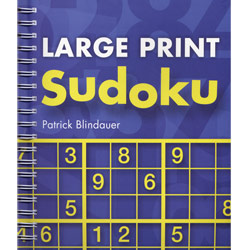 Large Print Sudoku Puzzle Book - click to view larger image