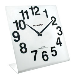 Giant-View Clock 10 x 10 inches - White Dial Price: $24.95