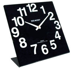 Giant-View Clock 10 x 10 inches - Black Dial