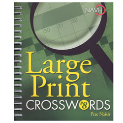 Large Print Crosswords No. 8 for Low Vision