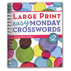 Large Print Easy Monday Crosswords - Number 2 - click to view larger image