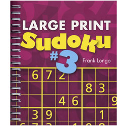 Large Print Sudoku- Number 3 - click to view larger image
