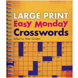 Large Print Easy Monday Crosswords Price: $12.95
