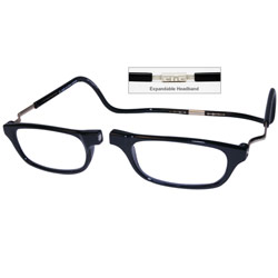 CliC Reading Glasses- Expandable - Black - 3.00 - click to view larger image