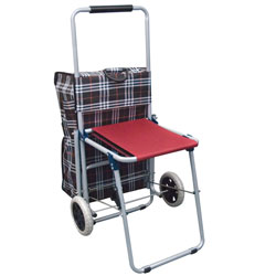 Rolling Shopping Cart with Seat Price: $44.95