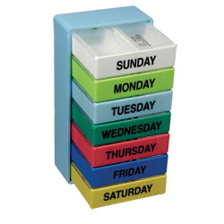The 7 Day Color 2 Compartment Pill Boxes