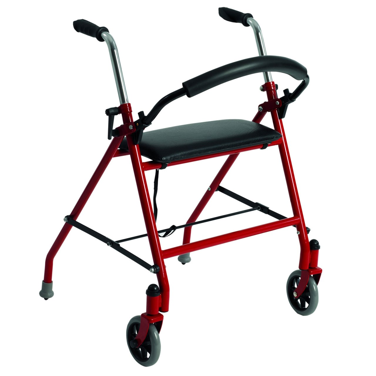 Two Wheeled Walker with Seat - Red