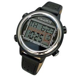 VibraLITE 12 Vibration Watch: Black/Black Price: $76.95