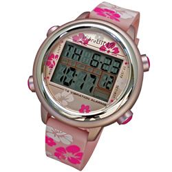 VibraLITE 12 Vibration Watch- Pink-Flowered Band Price: $69.95