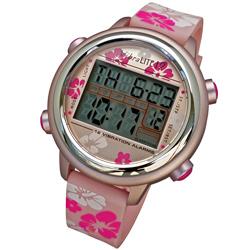 VibraLITE 12 Vibration Watch: Pink/Flowered Band Price: $69.95