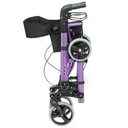 HealthSmart Gateway Euro Style Folding Aluminum Rollator - Purple