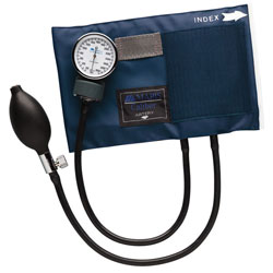 Caliber Series Child Aneroid Sphygmomanometer with Blue Nylon Cuff - click to view larger image