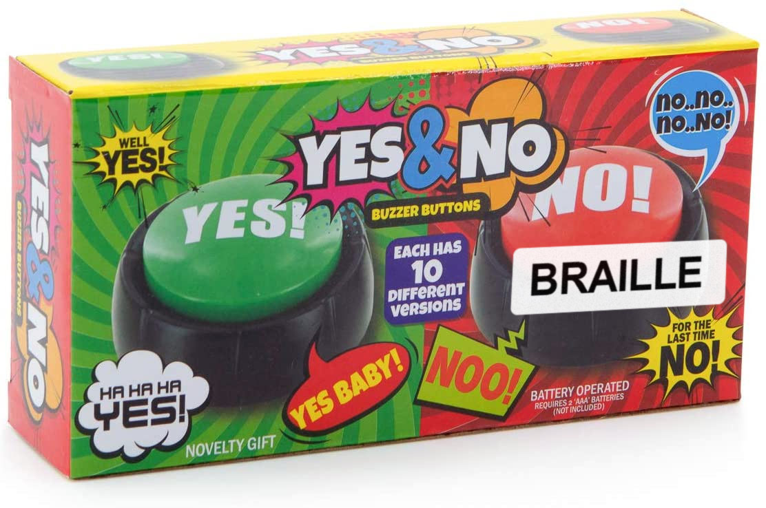 Talking Yes & No Buttons with Braille