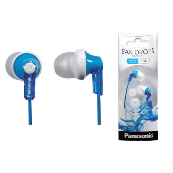 Panasonic ErgoFit In-Ear Earbud Stereo Headphones - Blue