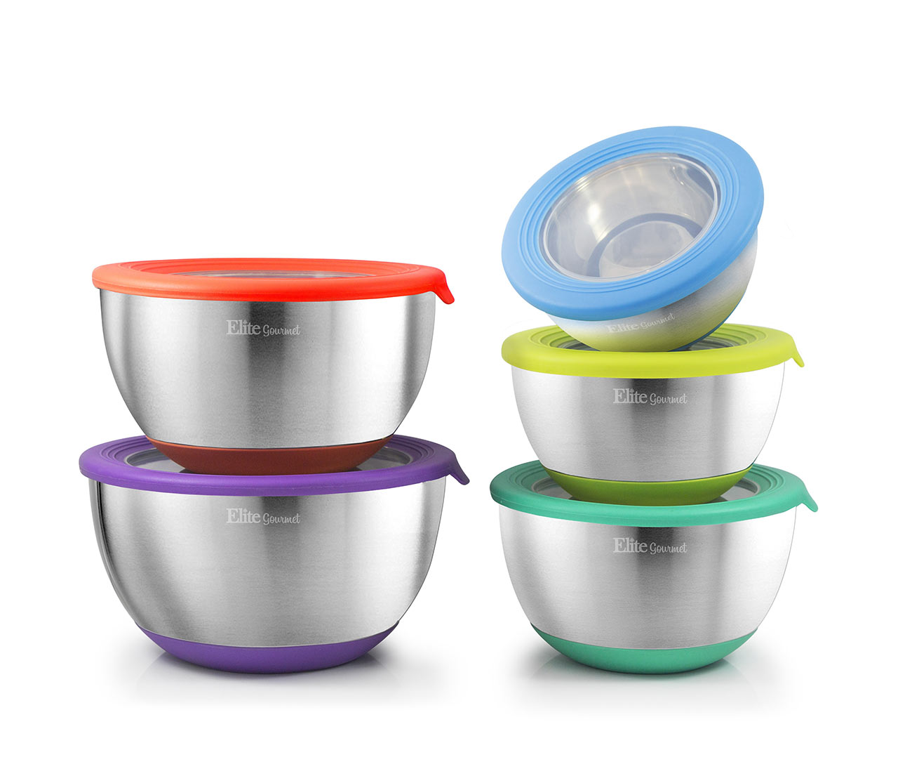 10 Pc. Stainless Steel Mixing Bowl Set