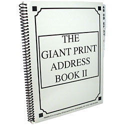 The Giant Print Address Book II - click to view larger image