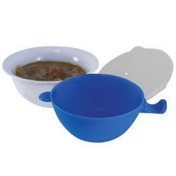 Cool Touch Microwave Bowl- 3-Piece Set - click to view larger image