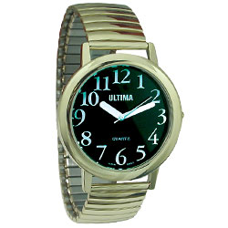 Ultima Low Vision Watch - Black Dial-Unisex Price: $19.75