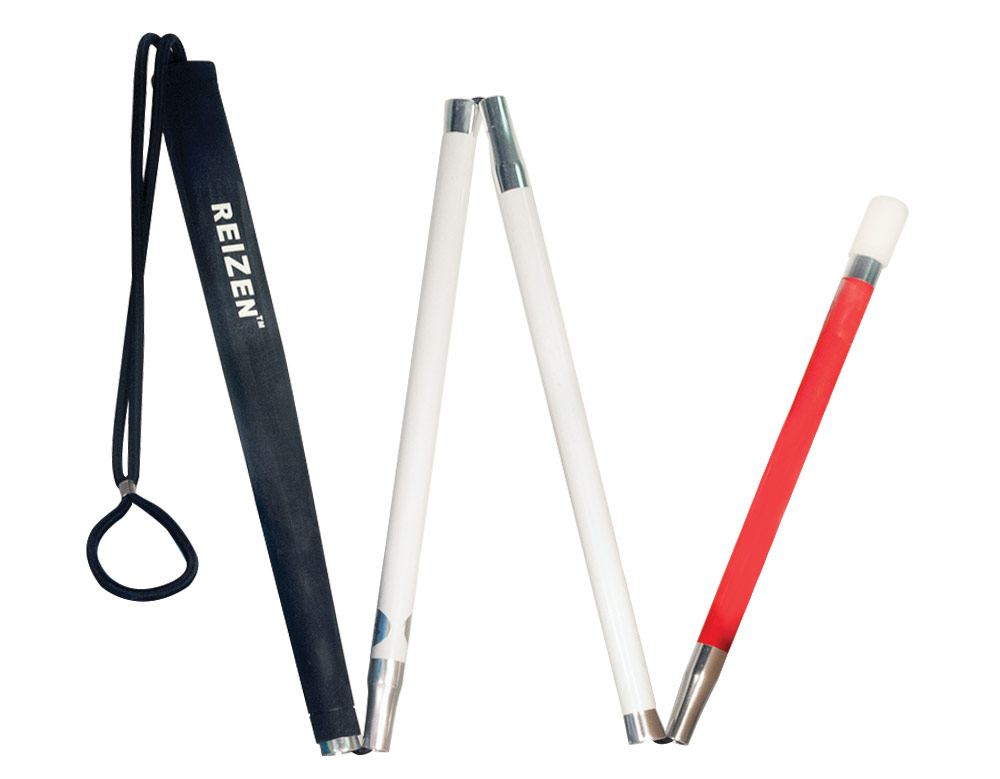 Europa Folding Cane with Tie On Loop Tip - 42 inches