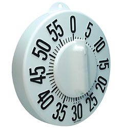 Tactile Long Ring Low Vision Timer - White Dial