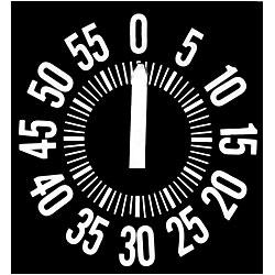 Ergonomic Long Ring Low Vision Timer - White Dial