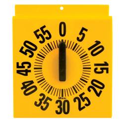 Ergonomic Long Ring Low Vision Timer - Yellow Dial