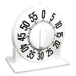 Tactile Long Ring Low Vision Timer With Stand - White Dial Price: $18.75