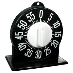 Tactile Long Ring Low Vision Timer With Stand - Black Dial Price: $18.75
