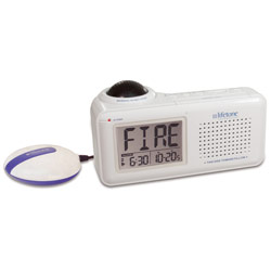 Lifetone HL Bedside Fire Alarm and Clock - click to view larger image