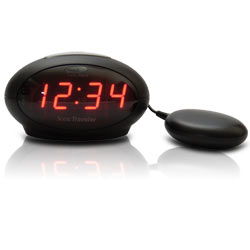 Sonic Traveler Alarm Clock with Bed Vibration and USB Charging Port Price: $39.95