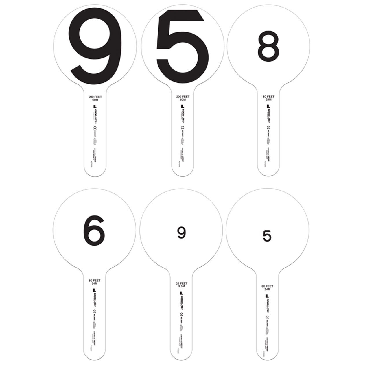 Lea Numbers Vision Rehabilitation Training Paddles