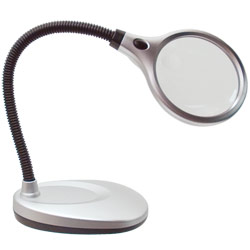 UltraOptix Desktop LED Lighted Magnifier - click to view larger image