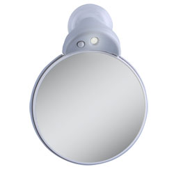 LED Lighted Spot Mirror 10X-5X - click to view larger image