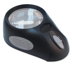 LumiLoupe Ultra 3-Level LED Lighted 5x Magnifier - click to view larger image