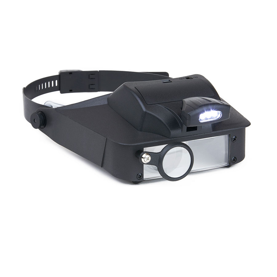 LumiVisor - Visor Magnifier with LED Light - click to view larger image