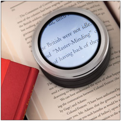 LED Lighted Adjustable Dome Desktop Magnifier - 5x or 6.5x