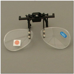 Walters 2.0D Half Frame Clip-On Loupe Magnifier- Bottom Half of Lens