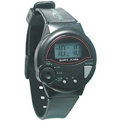 Tel-Time IV Spanish Talking Watch - Unisex: Black Price: $12.95