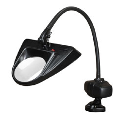 Dazor 30-Inch Hi-Lighting Clamp Base LED Magnifier 3D 1.75X - Black