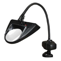 Dazor 30-Inch Hi-Lighting Clamp Base LED Magnifier 5D 2.25X - Black