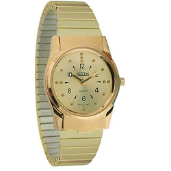 REIZEN Mens Braille Watch (Gold, Exp. Band) Price: $74.95
