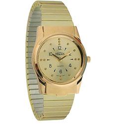 REIZEN Mens Braille Watch (Gold, Exp. Band) Price: $74.95