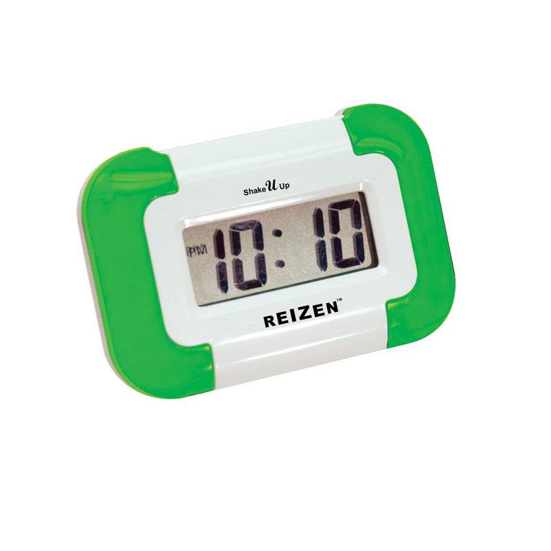 Reizen Shake-U-Up Vibrating Compact Travel Alarm Clock
