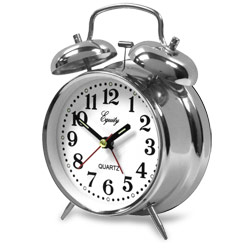 Double Bell Quartz Alarm Clock Price: $11.95