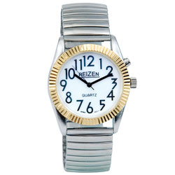 Reizen Mens Glow Low Vision Watch with Blue EL Light Price: $14.95