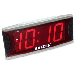 Reizen Jumbo Super Loud Alarm Clock with 2-Inch Red LED Price: $19.75
