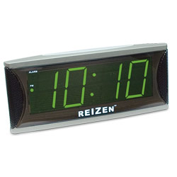 Reizen Super Loud Alarm Clock with 1.8-Inch Green LED Price: $24.95