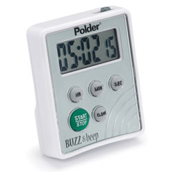 Polder Buzz and Beep Digital Vibrating Timer Price: $19.95