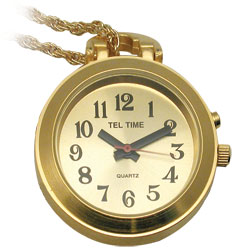 Ladies Gold-Colored One Button Pendant Talking Watch with Golden Chain for the Visually Impaired Price: $32.95